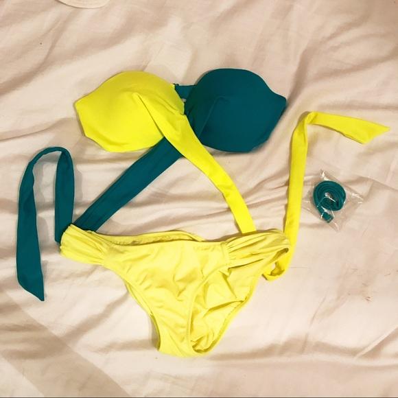 782f2222bb PINK Victoria's Secret Swim | Brand New Teal Hiliter Yellow ...